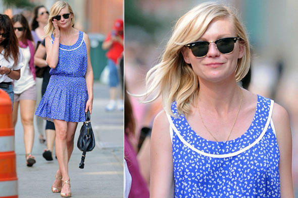 Kirsten Dunst in Louis Vuitton out and about in New York