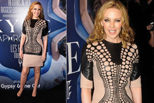 Hot or not: Kylie Minogue's optical illusion dress