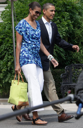 Michelle Obama wears £19.99 dress from Gap
