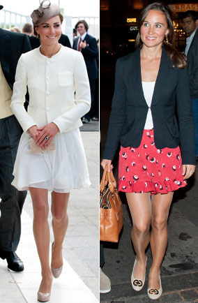 Kate and Pippa Middleton love their nude tights