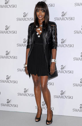 Naomi Campbell at Swarovski Fashionation in Milan