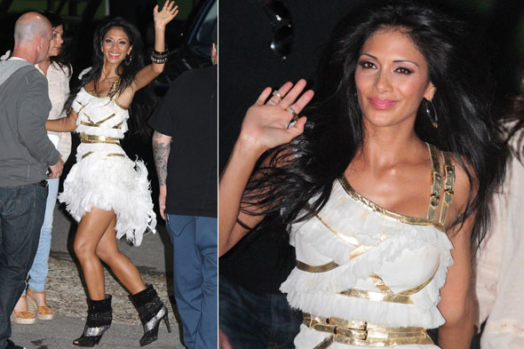 Nicole Scherzinger arrives at the Britain's Got Talent finale at Fountain Studios in London