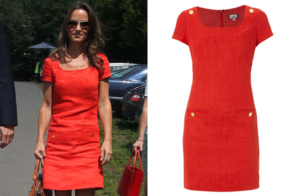 Pippa Middleton wearing the Wyldes dress from the Hobbs NW3 range.