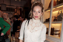 Sienna Miller taps white lace trend at Ralph Lauren Wimbledon party