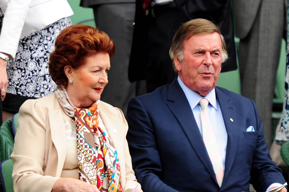 Sir Terry Wogan and his wife Lady Helen