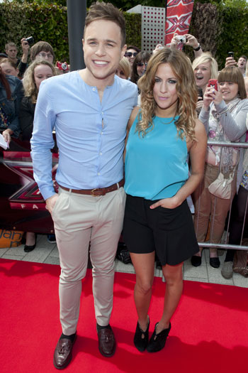 Olly Murs and Caroline Flack in Birmingham