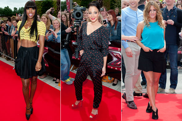 Kelly Rowland, Tulisa Contostavlos and Caroline Flack at the X Factor UK auditions in Brimingham