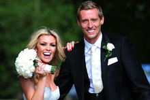 Abbey Clancy is blushing bride in Giles Deacon to wed Peter Crouch