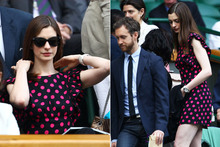 Anne Hathaway goes dotty for Wimbledon