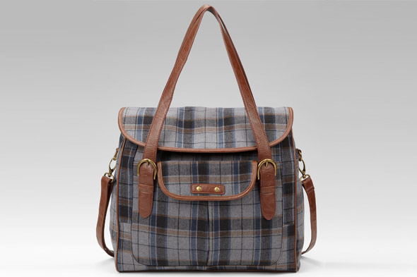 Indigo Collection check overnight bag