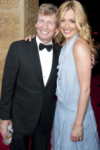 Nigel Lythgoe and Cat Deeley