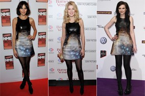 Christopher Kane dress on Alexa Chung Rosamund Pike and Amy Macdonald