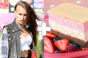 Alice Dellal and icecream