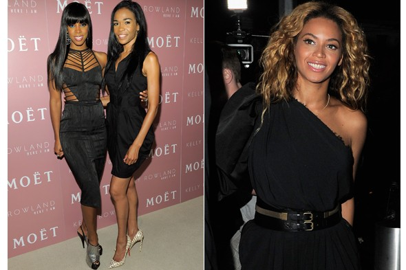 Michelle Williams and Beyonce Knowles join Kelly Rowland at the launch party for new album Here I Am