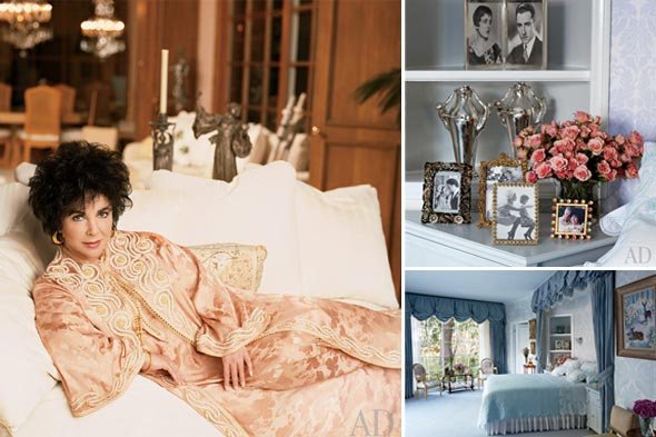 A Look Inside Elizabeth Taylor's Home