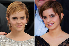 Emma Watson shows off new darker 'do (and gorge frock) at Harry Potter press conference