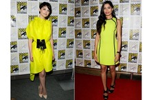 Style snap! Ginnifer Goodwin and Freida Pinto in fluoro yellow at Comic-Con