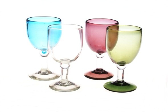 Chunky Recycled Wine Glasses