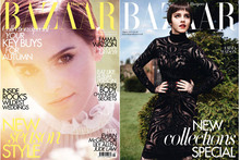 Emma Watson plays naughty and nice for Harper's Bazaar