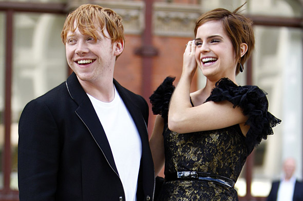 Rupert Grint and Emma Watson at the London press conference