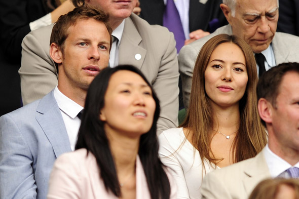 Jenson Button and girlfriend Jessica Michibata