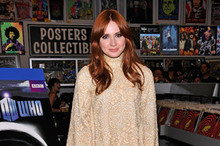 Hot or not: Karen Gillan's 60s-style, high-necked retro lace dress