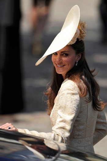 The Duchess of Cambridge donned a statement floral-enhanced hat