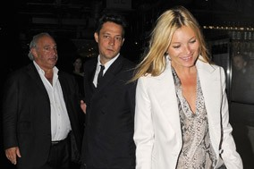 Kate Moss Jamie Hince and Philip Green