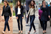 Duchess Kate wears her favourite J Brand jeans three says in a row on Canada tour