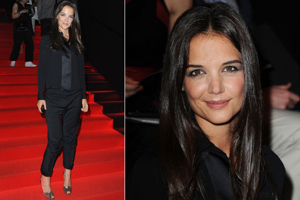 Katie Holmes at the Armani Prive couture 2011 show in Paris