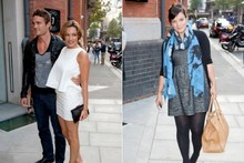 Lily's maternity chic and Kelly's glam mini: both girls wow at magazine bash