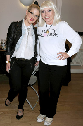Debbie Harry and Kelly Osbourne