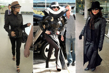 Lady Gaga channels Chezza and Joan Collins for airport look