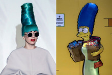 Lady Gaga's homage to Marge Simpson
