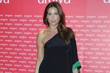 Lisa Snowdon gets leggy in one-shoulder mini dress at Radio Awards