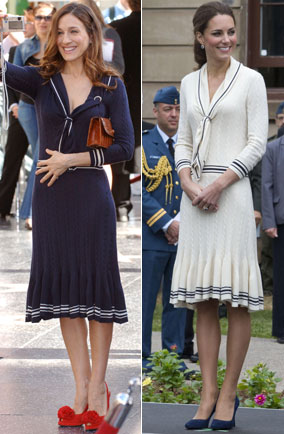 Sarah Jessica Parker wore Duchess Kate's Alexander McQueen dress first, way back in 2006