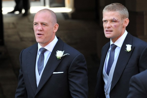 Mike Tindall and his best man Iain Balshaw