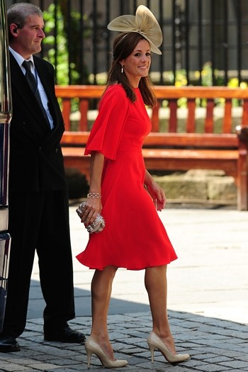 TV star Natalie Pinkham wowed in a backless scarlet dress