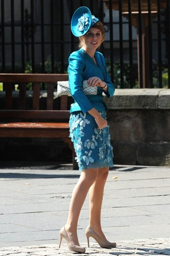 Princess Beatrice rocked a vivid blue skirt suit