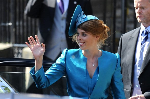 Princess Beatrice waved to the crowds on the Royal Mile