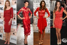Mini trend alert: A-list love red lace
