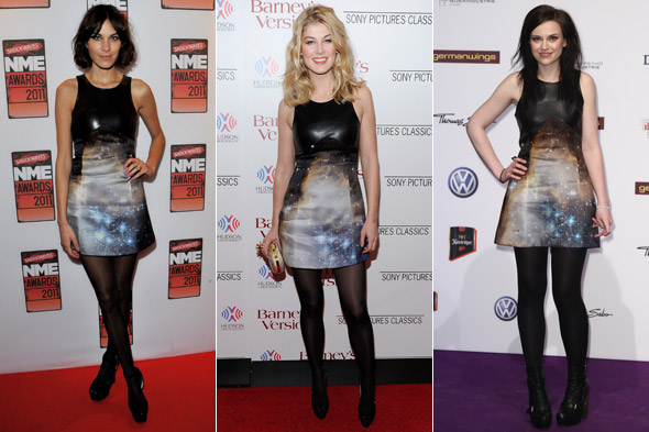 Alexa Chung vs Rosamund Pike vs Amy Macdonald