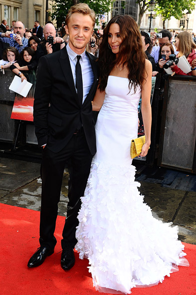 Tom Felton and girlfriend Jade Olivia