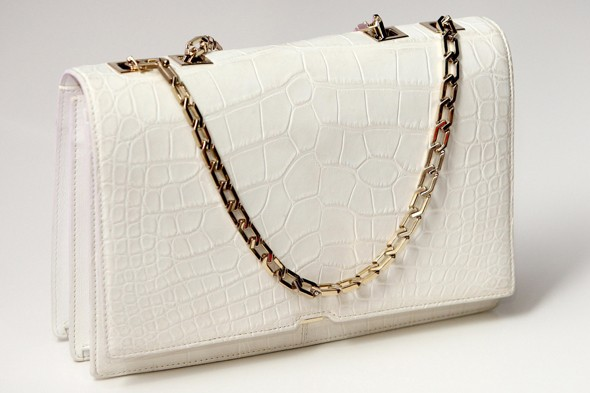 Victoria Beckham designs one-off crocodile bag for the Selfridges white christmas collection