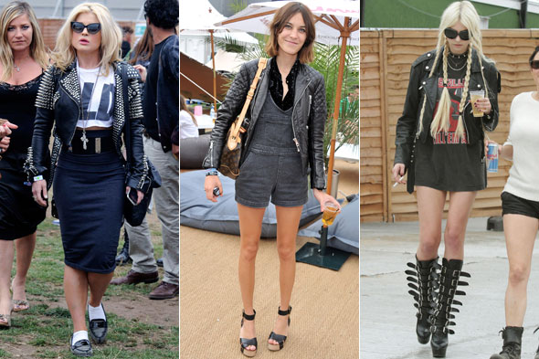 Kelly Osbourne, Alexa Chung and Taylor Momsen at Wireless Festival in Hyde Park