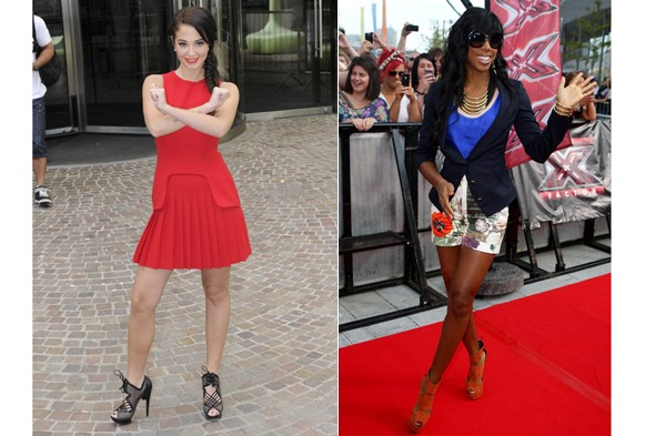 Tulisa Contostavlos and Kelly Rowland made their way to Liverpool today for