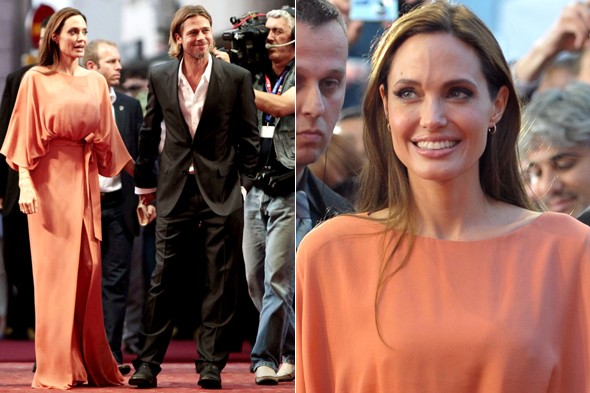 Angelina Jolie and Brad Pitt at the 17th annual Sarajevo Film Festival