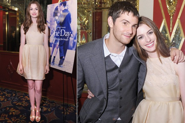 Anne Hathaway and Jim Sturgess at the One Day New York premiere after-party
