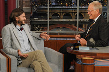 Ashton Kutcher v Rafael Nadal - who looked better on Letterman?
