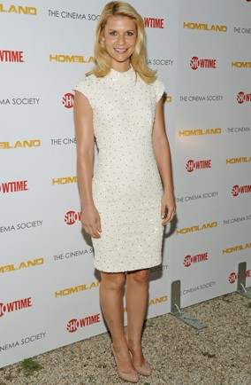 White hot: Claire Danes at the Homeland premiere